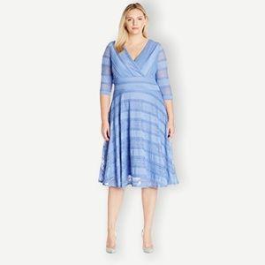 NWT Sangria Sz 16 Cornflower Blue Lace Midi Dress
